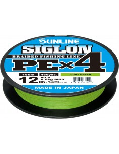 Sunline Siglon PE X4 150mt light green 10lb