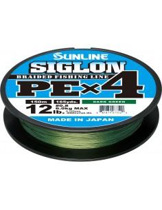 Sunline Siglon PE X4 150mt dark green 6lb