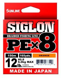 Sunline Siglon PE X8 150mt lime green 6lb