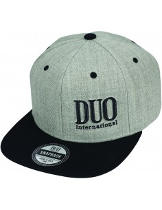 Duo Snapback Trucker Cap Heather Grey & Black