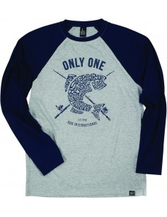 Duo Only One Shirt Langarm Navy Grey