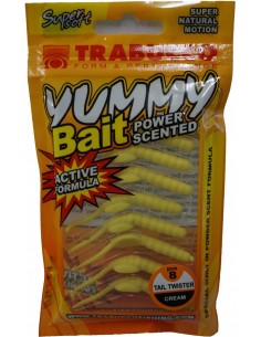 Trabucco Yummy Bait Tail Twister Cream