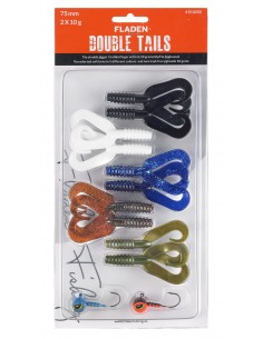 Fladen Double Tail Set 3 / 75mm - 10 g