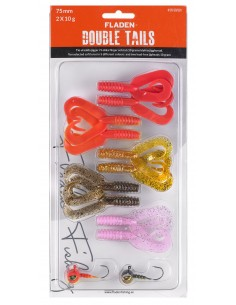 Fladen Double Tail Set 1 / 75mm - 10 g