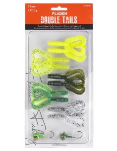 Fladen Double Tail Set 2 / 75mm - 10 g