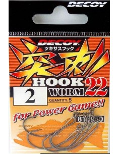 Decoy Hook Worm 22 Sz.1/0